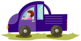 Boy driving truck car Royalty Free Stock Photography