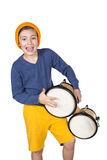 Boy with a drum Royalty Free Stock Images