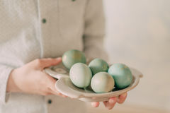 Boy with easter eggs Royalty Free Stock Photography