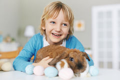 Boy with Easter friend Royalty Free Stock Photos