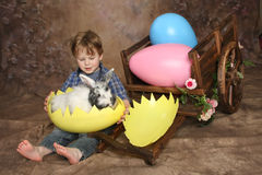 Boy on Easter Morning royalty free stock images