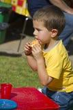 Boy eat Royalty Free Stock Image
