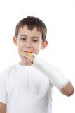 Boy eat lollipop Royalty Free Stock Photo