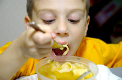 Boy Eating royalty free stock photos