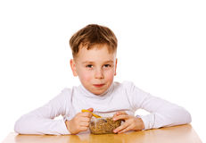 Boy eating Royalty Free Stock Photography