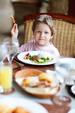 Boy eating Royalty Free Stock Image