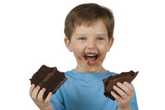 Boy Eating Cake Royalty Free Stock Photography
