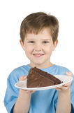 Boy Eating Cake Stock Image