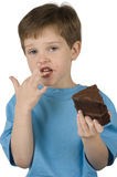 Boy Eating Cake Stock Photography