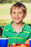 Boy Eating Cake Royalty Free Stock Images