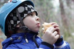 Boy eating cake Royalty Free Stock Photo