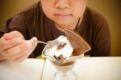 Boy eating ice cream Royalty Free Stock Image
