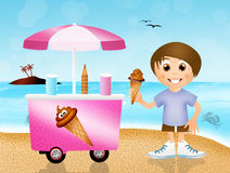 Boy eating ice-cream Royalty Free Stock Photo