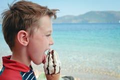 Boy eating ice cream Royalty Free Stock Photo