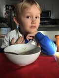 Boy Eating Royalty Free Stock Images