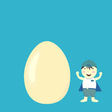 Boy and egg Stock Photo