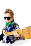 Boy with electric guitar Stock Image
