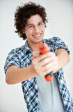 Boy with Electric Screwdriver Stock Photos