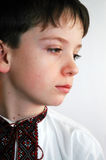 The boy in an embroidered shirt. The boy in national Ukrainian clothes Royalty Free Stock Photos