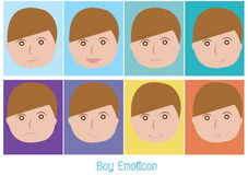 Boy emoticon Royalty Free Stock Images