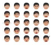 Boy Emotion Faces Vector Illustration 1 Royalty Free Stock Image