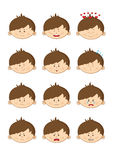 Boy emotions Stock Photo