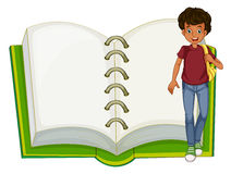 A boy and an empty notebook Royalty Free Stock Photos