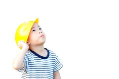 Boy engineer Stock Image