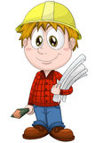 Boy engineer designer character cartoon  illustration Stock Photography