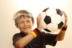 Boy enjoy playing Royalty Free Stock Photos