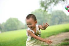 Boy enjoying fun game Royalty Free Stock Photos