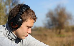 Boy Enjoying Music Royalty Free Stock Images