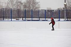 Boy enjoying skating Stock Photos