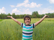 Boy enjoying summer Royalty Free Stock Photo
