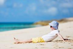 Boy enjoying vacation Stock Image