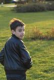 Boy escapes Stock Photo