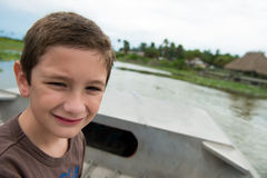 Boy in the everglades Stock Photos