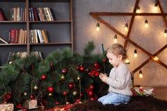 Boy examine the broken toy Royalty Free Stock Photography