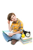 The boy with exercise book Stock Photography