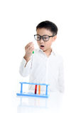 Boy experimental in the lab Stock Images