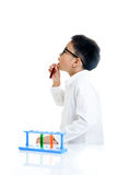 Boy experimental in the lab Stock Image