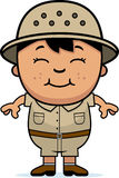 Boy Explorer. A cartoon illustration of a boy explorer standing and smiling vector illustration