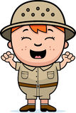 Boy Explorer Excited Royalty Free Stock Image
