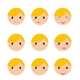 Boy expression face Stock Image