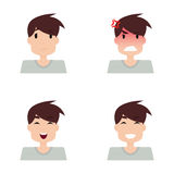 Boy Expression Faces Stock Photo