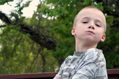 Boy Expressions 2. Boy with haughty expression royalty free stock photos