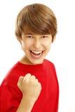 Boy exult Stock Photo