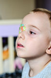 Boy with Eyepatch Royalty Free Stock Images