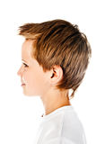 Boy face. Isolated on a white background Stock Image
