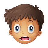 A boy face. Illustration of a boy face on a white background Royalty Free Stock Images